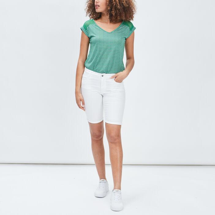 T-shirt manches courtes femme vert