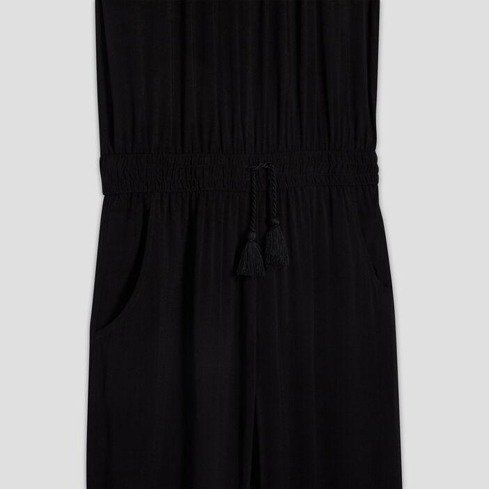 Combinaison pantalon fluide fille noir