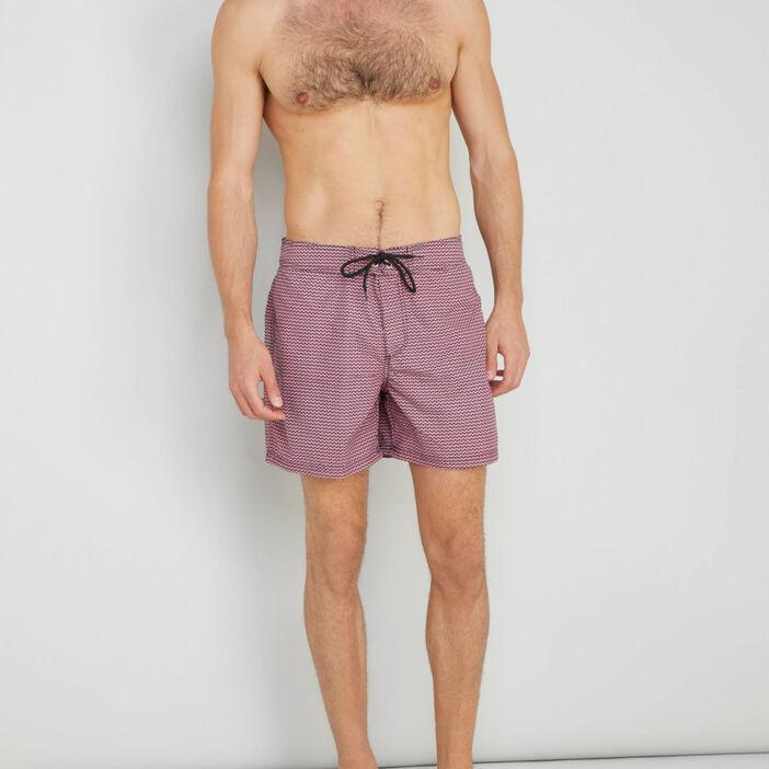 Short de bain imprimé homme multicolore