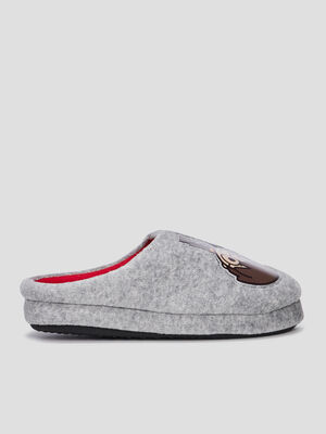 Chaussons mules Harry Potter gris