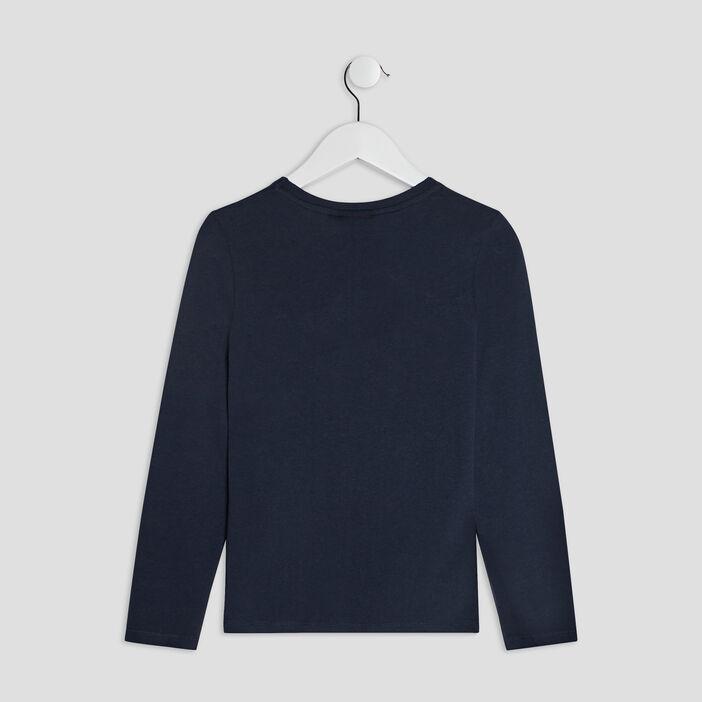 T-shirt manches longues Marvel garçon bleu marine