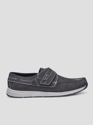 Chaussures bateau Trappeur bleu homme