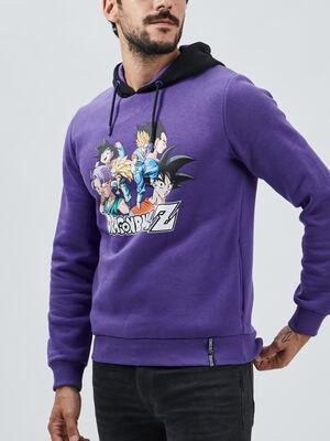 Sweat Dragon Ball Z violet homme