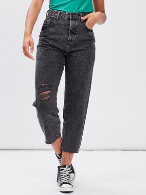 Jeans straight Liberto denim snow noir femme