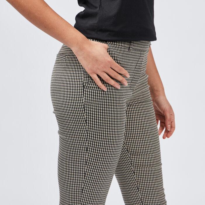 Pantalon cigarette femme noir