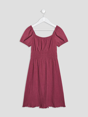 Robe evasee bordeaux fille