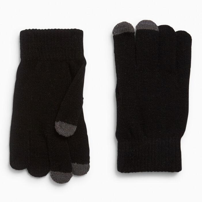 Gants bout des doigts tactile homme noir
