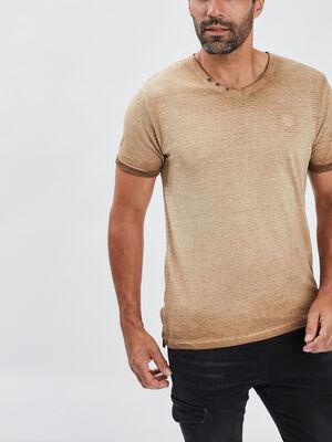 T shirt manches courtes camel homme