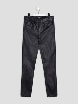 Pantalon slim aspect enduit Liberto noir fille