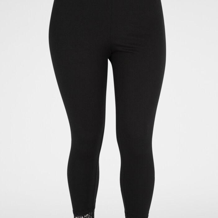 Leggings avec dentelle femme grande taille noir