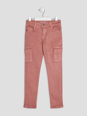 Pantalon slim Creeks rose fille