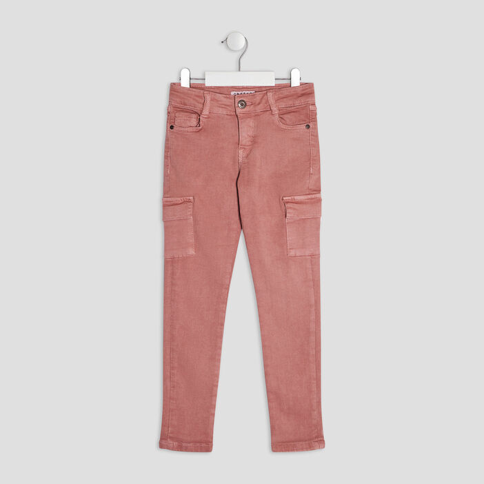 Pantalon slim Creeks fille rose