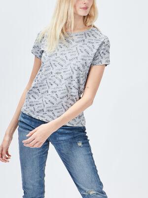 T shirt manches courtes Creeks gris femme