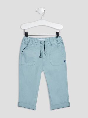 Pantalon straight Creeks bleu turquoise bebeg