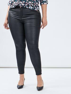 Pantalon skinny details zippes noir femmegt