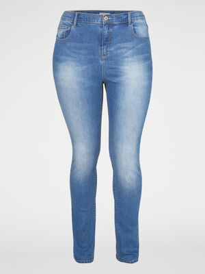 Jean coupe slim taille standard denim stone femme