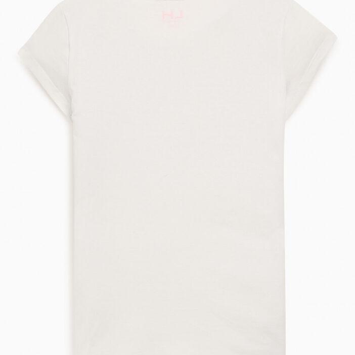 T-shirt uni en coton fille blanc