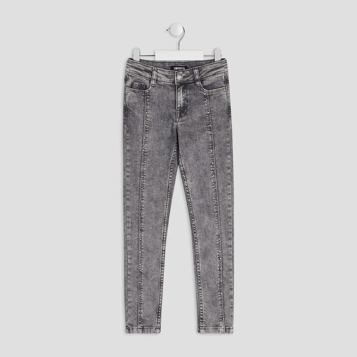 Jeans skinny Liberto fille gris