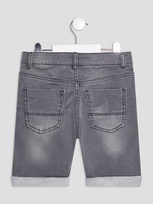 Bermuda straight en jean gris garcon
