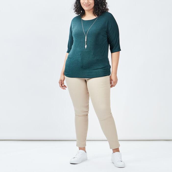 T-shirt grande taille femme grande taille vert