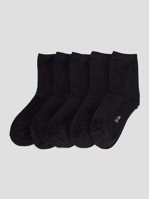 Lot 5 paires chaussettes noir garcon