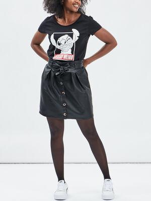 T shirt Lilo et Stitch noir femme