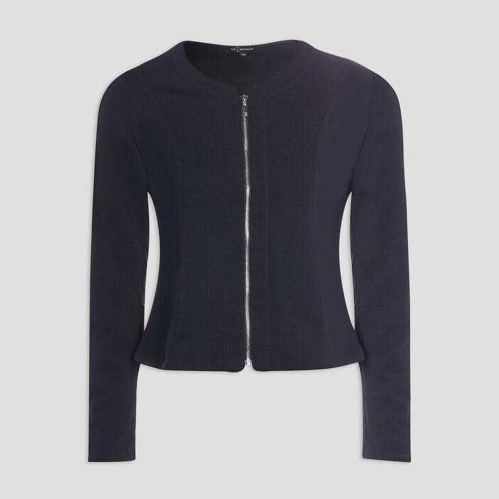 Veste cintrée zippée femme noir