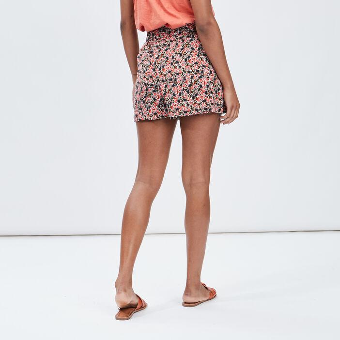 Short ample fluide femme multicolore