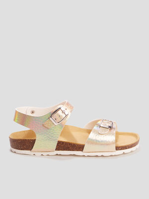 Mules irisees couleur or fille