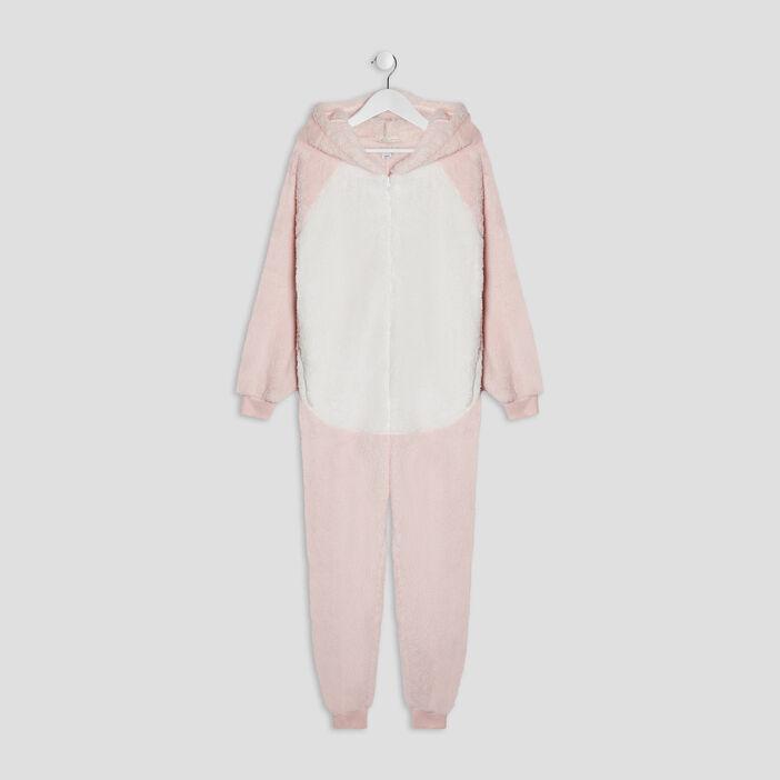 Combinaison de pyjama fille rose clair