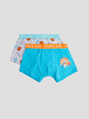 Lot 2 boxers Space Jam bleu garcon