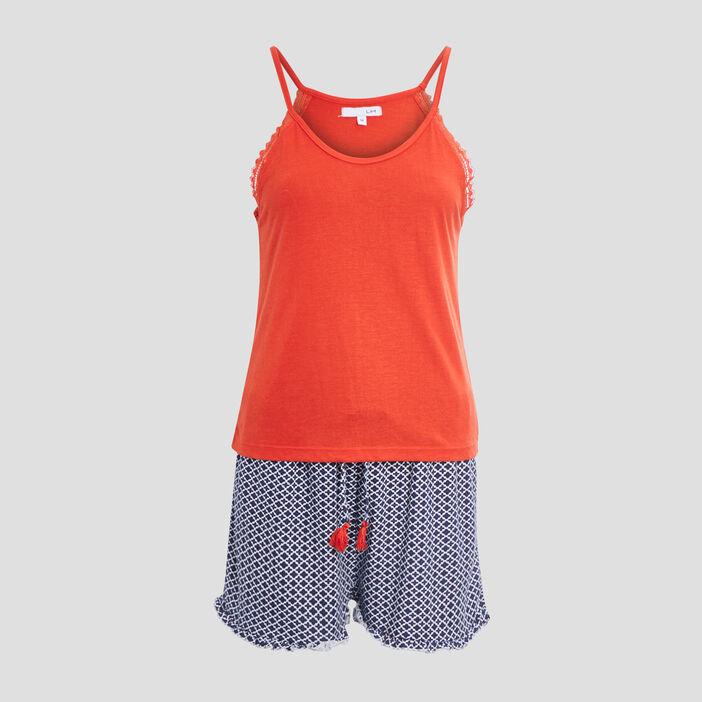 Ensemble pyjama 2 pièces femme rouge