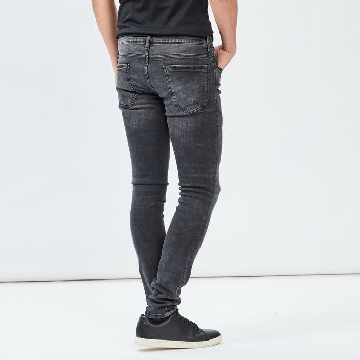Jeans skinny stretch Liberto homme denim snow noir