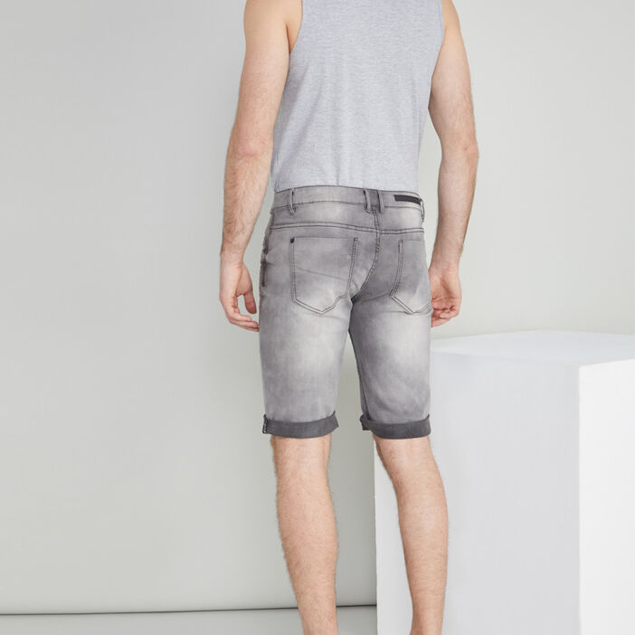 Bermuda slim en jean Liberto homme gris