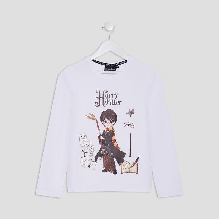 T-shirt Harry Potter fille blanc
