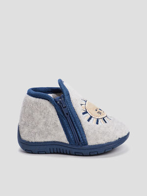 Chaussons bottines gris bebeg