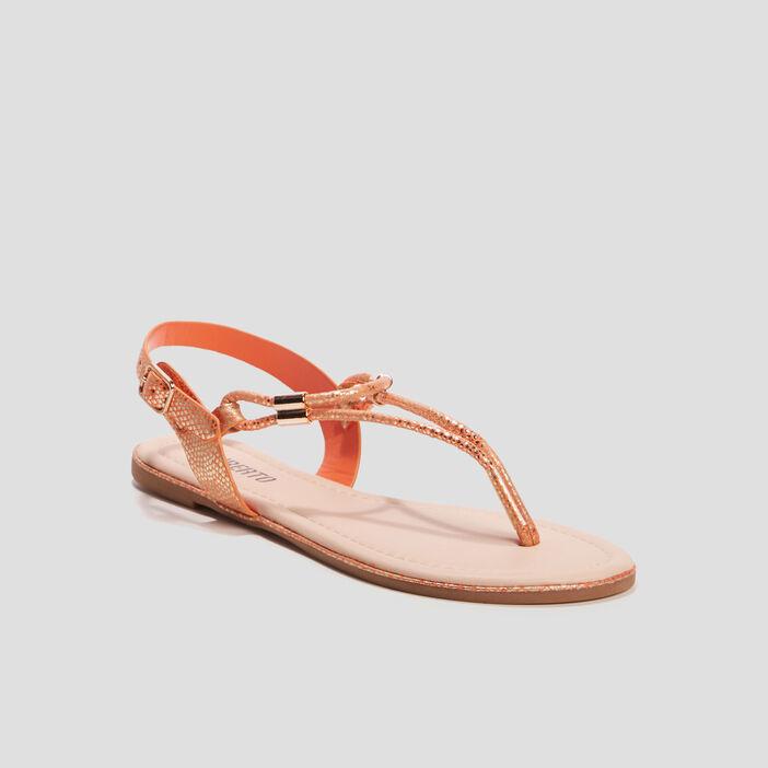 Sandales plates Liberto femme orange
