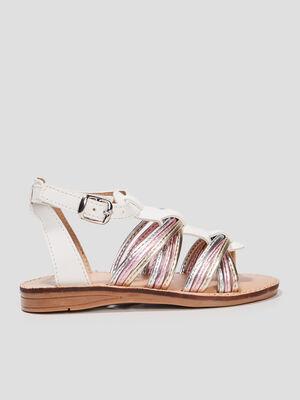 Sandales a brides irisees blanc fille