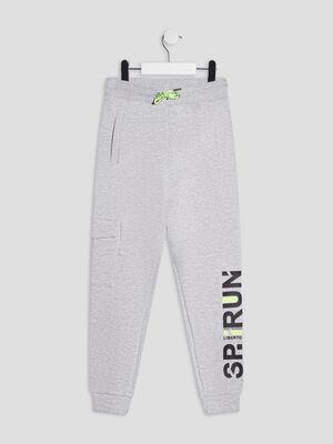 Jogging droit Liberto gris fonce garcon