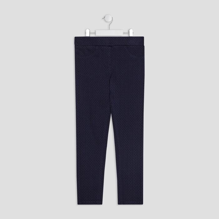 Pantalon jogging fille bleu marine
