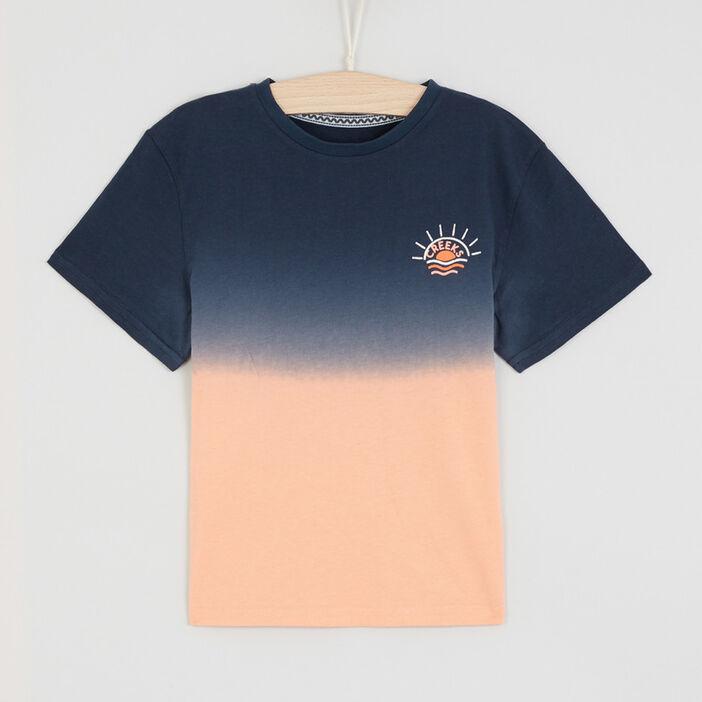 T-shirt tie and dye garçon bleu marine