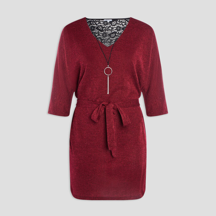Robe droite grande taille femme grande taille rouge