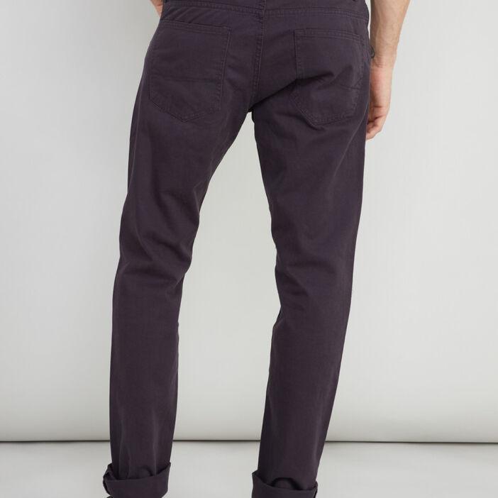 Pantalon droit homme violet