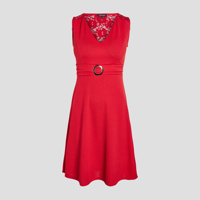 Robe patineuse Mosquitos femme rouge