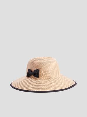 Chapeau tresse a noeud noir