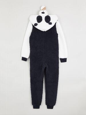 Combinaison de pyjama zippee panda ecru fille