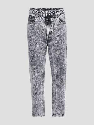 Jeans mom Liberto denim snow gris femme