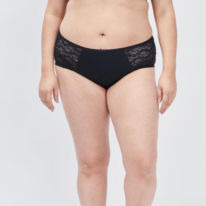 Boxer à dentelle grande taille femme grande taille noir