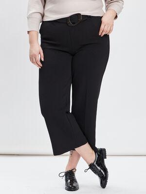 Pantalon large grande taille noir femmegt