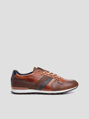 Sneakers a lacets Creeks marron homme
